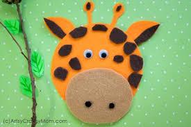 Giraffe Printable Template G For Giraffe Craft With Printable Template Artsy Craftsy Mom