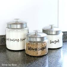 anchor hocking montana jars with printed clear labels 3 piece glass canister jar set anchor hocking montana jars