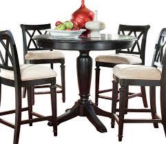 american drew camden dark round counter height table in black