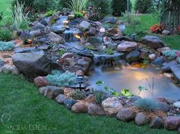 garden pond ideas. Interesting Garden Even A Naturallooking Pond Could Benefit From Underwater Lighting  Consider This Before Building Throughout Garden Pond Ideas S