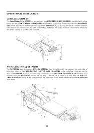 Pilates Reformer Workout Chart Rope Length Adjustment Operational Instruction Load
