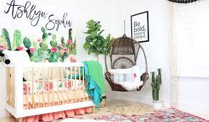 a modern boho cactus nursery boho