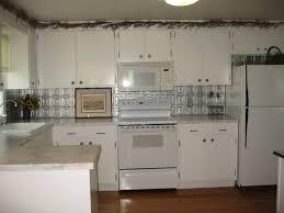 Tin Backsplashes For Kitchens Kitchen Redo Tin Ceiling Backsplash My Country Farmhouse