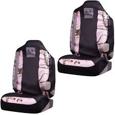 front car truck suv bucket seat covers realtree girl pink logo camo pair com