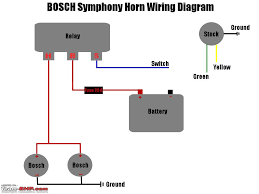 dual horn relay wiring diagram with schematic diagrams wenkm com how to wire a car horn to a push button at Car Horn Wiring Diagram