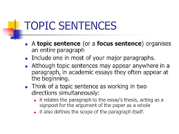 organization of academic paper ppt video online  3 topic sentences