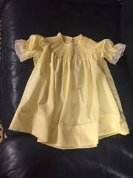 s ready to smock bi dress ery yellow ruffled short sleeves with lace size 1