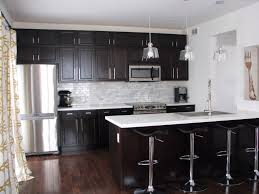 dark kitchen cabinets with quartz countertops