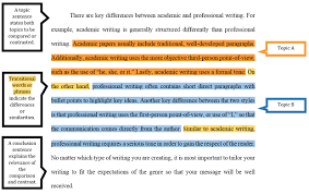 topic sentence examples for compare and contrast essay compare contrast assignments ashford writing center