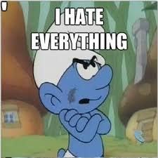 Grumpy Cat's Smurf by oussama_wes - Meme Center via Relatably.com