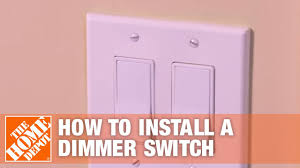 How To Install A Dimmer Light Switch How To Install A Dimmer Switch Single Pole Three Way Light Switch The Home Depot