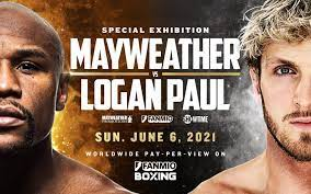 Floyd mayweather, right, throws a punch at logan paul during their. Floyd Mayweather Vs Logan Paul Special Exhibition Fight