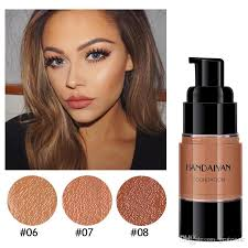 dropshipping handaiyan dark skin base covers face foundation makeup full coverage cream concealer base make up liquid contour makeup for dark skin