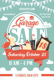 Yard Sale Flyer Garage Sale Free Flyer Psd Template Facebook Cover