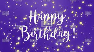 Purple Happy Birthday Greeting Card Video Stock Animation 11330662