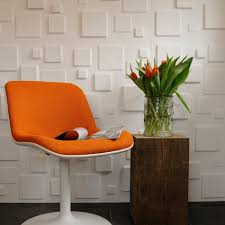 White Walls Decorating Red Flower Accent Wallpaper For White Wall Living Room Interior