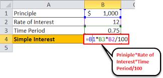 Interest Rate Formula Calculate Simple Compound Interest