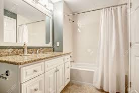 White Bathroom Cabinets With Granite Vanity Cabinet Top And Mirror Inside Beautiful Design