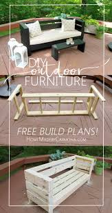 outdoor furniture free build plans