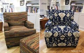 blue chair slipcover. Plain Chair Indigo Ikat Chair Slipcover By Karen Powell Intended Blue