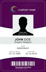 Identification Template Vertical Id Card Template Psd Free Download Design Btcromania Info