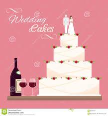 Flat Wedding Cake Designs Wedding Cakes Stock Vector Illustration Of Food Sweet