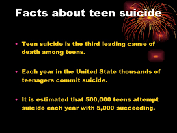 And teen suicide facts for