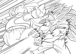 Dragon Ball Z Anime Attack Coloring