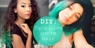 DIY Turquoise Ombre   Kylie Jenner Hair - YouTube
