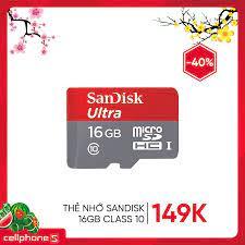 Giảm giá thẻ nhớ 16GB Class 10 #Sandisk... - CellphoneS - Hệ thống bán lẻ  di động toàn