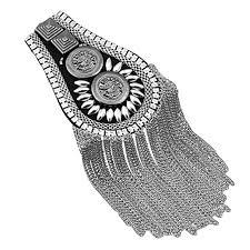 2PCS Unisex Vintage Epaulettes <b>Shoulder Boards Badge</b> Brooch ...