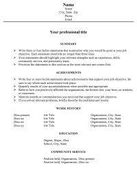achievement resume examples