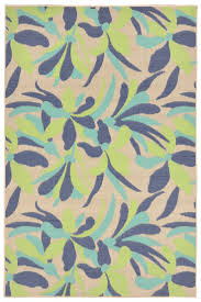 playa floral tropical area rug  cool blues  tropical area rugs
