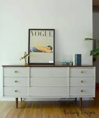 white mid century modern dresser. Plain Mid Furniture White Wooden Dresser With Brown Top And Base  On Laminate Flooring With White Mid Century Modern Dresser M