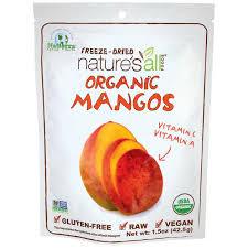 Nature's All Foods <b>Organic Freeze Dried Mangos 1.5</b> oz (42.5 grams ...