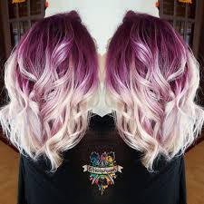 Deep Lilac Hair Color Shadow Base
