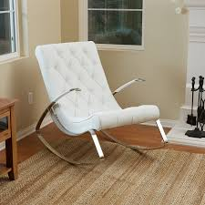 barcelona city luxury modern design white leather rocking white leather eames lounge chair