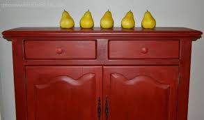 painted red furniture. annie sloan painted cabinet after red furniture