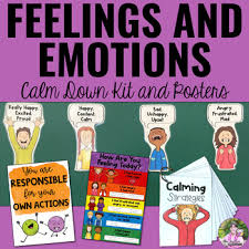 Feelings And Emotions Cool Down Kit Posters And Feelings Chart