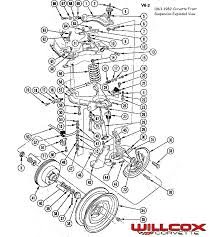 1963 1982 corvette front suspension exploded view