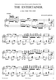 Download and print the piano sheet music of the entertainer by scott joplin. Free Sheet Music Joplin Scott The Entertainer Piano Solo