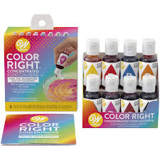 Wilton Fondant Color Mixing Chart Wilton Color Right Performance Food Coloring Set Achieve Consistent Colors For Icing Fondant And Cake Batter 8 Base Colors