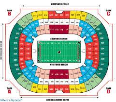 Mercedes Stadium Seating Chart Atlanta 75 Paradigmatic Georgia Dome Seat Views