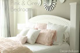 our new white pink and grey bedroom