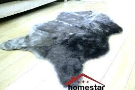 fake bear skin rug with head faux skin rug grey faux fur rug luxury gy carpet