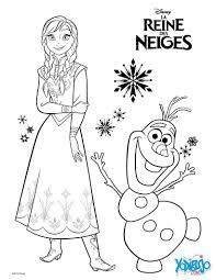dibujo para colorear anna y olaf la reina de las nieves