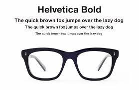 eyeglasses inspired by type