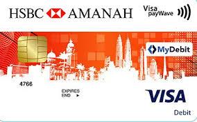 hsbc amanah visa debit card i easy
