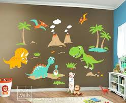 dinosaur room fair saur decals for bedroom set new at wall ideas picture children wall decals