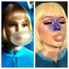 makeup artist created makeup inspired by charlie and the chocolate factory vogue